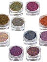 10 Manucure De oration strass Perles Maquillage cosmetique Nail Art Design