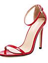 Homme-Mariage Habille-Noir Rouge Blanc Amande-Talon Aiguille-Confort-Sandales-Cuir PVC