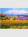 Peint a la main Paysage A fleurs/Botanique Paysages Abstraits Peintures a l\'huile,Moderne Pastoral Style europeen Un Panneau Toile
