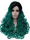 Perruques sans bonnet Perruques pour femmes Noir / Vert Perruques de Costume Perruques de Cosplay