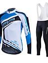 Sportif Maillot de Cyclisme Femme / Homme / Unisexe Manches longues VeloRespirable / Garder au chaud / Sechage rapide / Doublure Polaire