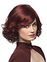 2016 hot synliggöra den europeiska kvinnor älskar röda kort lockigt peruk syntetiskt värmebeständiga peruker med sido lugg