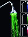 controle de la temperature conduit trois couleurs jet de douche (abs placage)