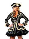Costumes de Cosplay Costume de Soiree Pirate Fete / Celebration Deguisement d\'Halloween Noir Imprime Robe Chapeau Halloween Carnaval