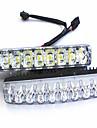 voiture de forte puissance a conduit les feux diurnes a feux etanches petit harpon 9 LED lumieres diurnes phares