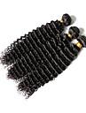 Tissages de cheveux humains Cheveux Bresiliens Ondulation profonde 12 mois 3 Pieces tissages de cheveux