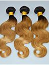 A Ombre Cheveux Malaisiens Droit 3 Mois 3 Pieces tissages de cheveux