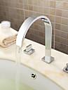 Contemporain Moderne Diffusion large large spary with  Soupape ceramique Deux poignees trois trous for  Chrome , Robinet de baignoire