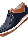 Blå Vit-Platt klack-Herr-Komfort-Läder-Fritid-Oxfordskor