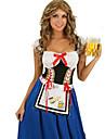 Costumes de Cosplay Costume de Soiree Tenus de Servante Fete d\'Octobre/Biere Fete / Celebration Deguisement d\'Halloween Bleu MosaiqueRobe