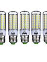 15W E26/E27 Ampoules Mais LED T 72 SMD 5730 980LM lm Blanc Chaud / Blanc Froid Decorative AC 100-240 V 5 pieces