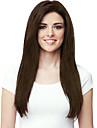 cheveux longs perruques synthetiques droites chaleur bang brun fonce pleine resistant