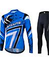 Fastcute® Maillot et Cuissard Long de Cyclisme Femme / Homme / Unisexe Manches longues VeloRespirable / Sechage rapide / Permeabilite a