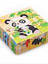 Pussel Originell leksak Byggblock DIY leksaker Fyrkantig 1 Wood Regnbåge Novelty Toy