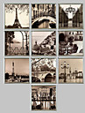 Architecture Framed Canvas / Framed Set Wall Art,PVC Champagne No Mat With Frame Wall Art