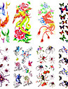 1 Tatouages Autocollants Series animales Motif Bas du Dos ImpermeableHomme Femme Adulte Adolescent Tatouage TemporaireTatouages