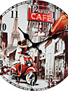 Moderne/Contemporain Famille Horloge murale,Rond Autres 34*34*3cm Interieur Horloge