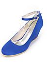Dame Tocuri Primăvară / Vară / Toamnă Wedges / Vârf Rotund Mătase Nuntă / Party & Seară Toc Pană AlteleNegru / Albastru / Roz / Violet /