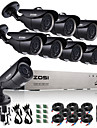 Zosi® 8ch ahd 720p dvr 1tb hdd 8pcs 1.0 mp systeme de surveillance camera cctv