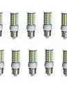 10W E14 / G9 / GU10 / B22 / E26/E27 Ampoules Mais LED Tube 69 SMD 5730 850-950 lm Blanc Chaud / Blanc Froid Decorative / EtanchesAC