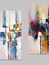 fantasi Canvastryck Två paneler Redo att hänga , Vertikal