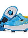 Svart Blå Rosa-Låg klack-Unisex-Rullskridskosko-Läder-Utomhus Sport-Sneakers