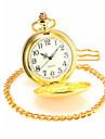 Men's Gold Alloy Quartz Pocket Watch Cool Watch Unique Watch