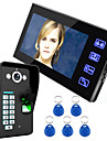Ennio röra nyckeln 7 lcd igenkänning av fingeravtryck video porttelefon intercom-system ir kamera hd 1000 tvline