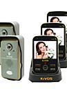 kivos kdb302a sonnette video sans fil sonnette de la porte deux drag de verrouillage de la camera de surveillance a distance de trois