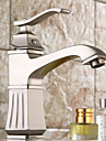 entraxe antique poignee seul trou dans le nickel brosse lavabo robinet (courte)
