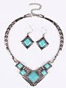Ensemble de bijoux Mode Sexy Bleu Collier / Boucles d\'oreilles Mariage Soiree Quotidien Decontracte 1setColliers decoratifs Boucles