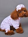 Pisici / Câini Pijamale Galben / Albastru / Roz Îmbrăcăminte Câini Iarnă / Primăvara/toamnă Animal Nuntă / Cosplay