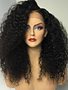 heta långa kinky lockigt peruker med baby hår limfria jungfruligt brasilianskt människohår limfria fullt spetsar peruker för kvinnor