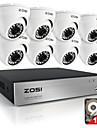 zosi8ch 720p hdmi CCTV-system videobandspelare 1TB 4st 720p hemsäkerhet kameran vattentät övervakningsutrustningar