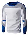 Bărbați Casul/Zilnic / Sporturi Simplu(ă) / Activ Regular Hoodies-Bloc Culoare Alb / Negru / Gri Manșon Lung Rotund BumbacPrimăvară /