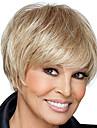 korta raka hår blont färg syntetiska peruker för kvinnor