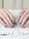nagel konst falska spik fläckar på bruden falska nagelband gummi
