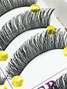 ögonfransar Ögonfrans Hela ögonfransar Ögon Tjock Lyfta ögonfransar Handgjord Fiber Svart band 0.10mm 12mm