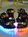Unisexe-Exterieure Decontracte Sport-Noir Blanc-Talon Bas-Confort Light Up Chaussures-Baskets-Cuir