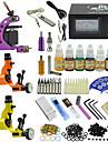 1 x gjutjärn tatuering maskin för linjer och skuggning / 2 x roterande tatueringsmaskin för linjer och skuggning Analog strömförsörjning