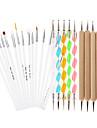 25pcs peinture design nail art diy parsemant stylo ongle design dessin auto brosses kit d\'outils bundle ensemble de manucure