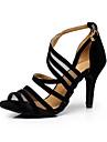 Chaussures de danse(Noir) -Personnalisables-Talon Aiguille-Flocage-Latine / Baskets de Danse / Salsa