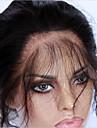 360 Frontal Kroppsvågor Mänskligt hår Stängning Medium Brun Fransk spets 75g-95g gram Medel Cap Storlek