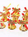 9pcs decorations ornement de noel arbre de noel decoration brillance or suspendus cloches noeud papillon joyeux noel diy
