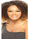 kort afro kinky våg ljusbruna gula och bruna färg syntetiska peruker för kvinnor