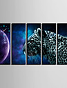 Dreptunghiular Retro Ceas de perete , Altele Canava 24x70cm(9inchx28inch)x5pcs/30x90cm(12inchx35inch)x5pcs
