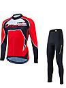 Fastcute® Cykeltröja och tights Herr Lång ärm CykelAndningsfunktion / Snabb tork / Ultraviolet Resistant / Kompression / 3D Pad /