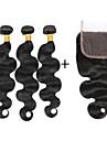 4 Pieces Ondulation naturelle Tissages de cheveux humains Cheveux Indiens 100g per bundle 8inch-28inch Extensions de cheveux humains