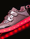 Fille-Decontracte-Noir Marron-Talon Plat-Confort Light Up Chaussures-Ballerines-Tulle