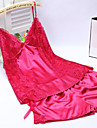Feminin Ultra Sexy Pijamale,Mediu Mătase-Sexy Solid Roz / Violet / Albastru / Galben / Negru / Alb